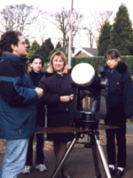 Juan Rivero demonstrates Solar Observations at Pex Hill's 5th anniversary Open Day, 20th March 1999