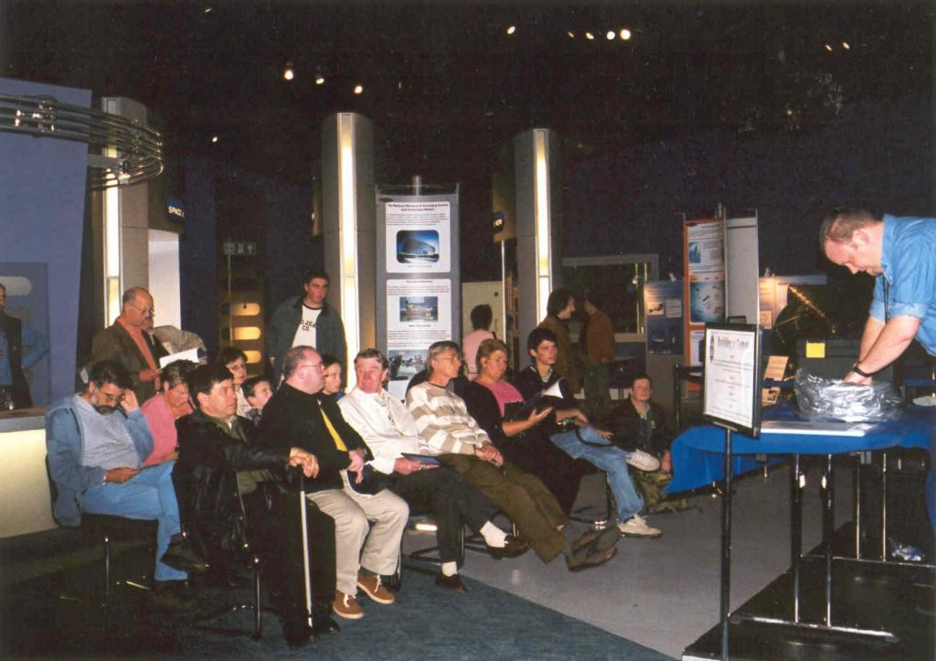 Making a Comet at the National Space Centre, Saturday April 20th 2002