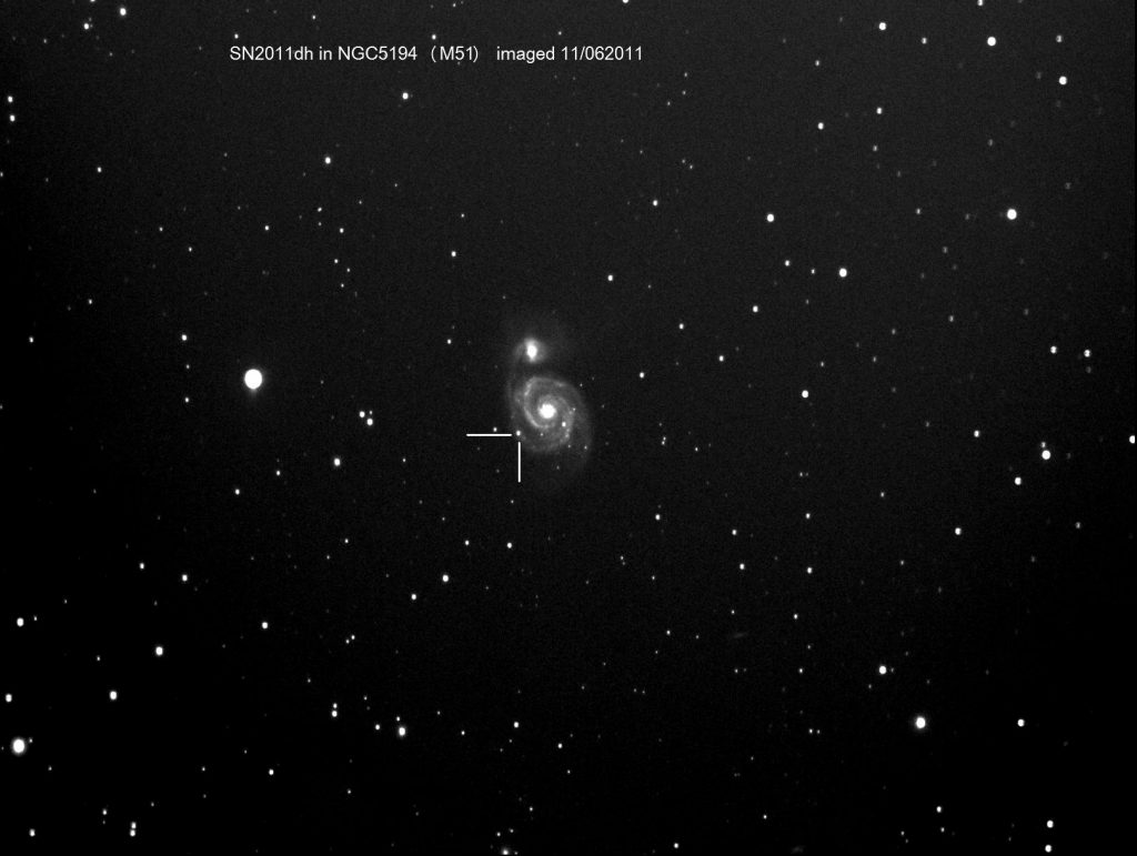 Supernova SN2011dh in M51 / NGC5194, 11th June 2011