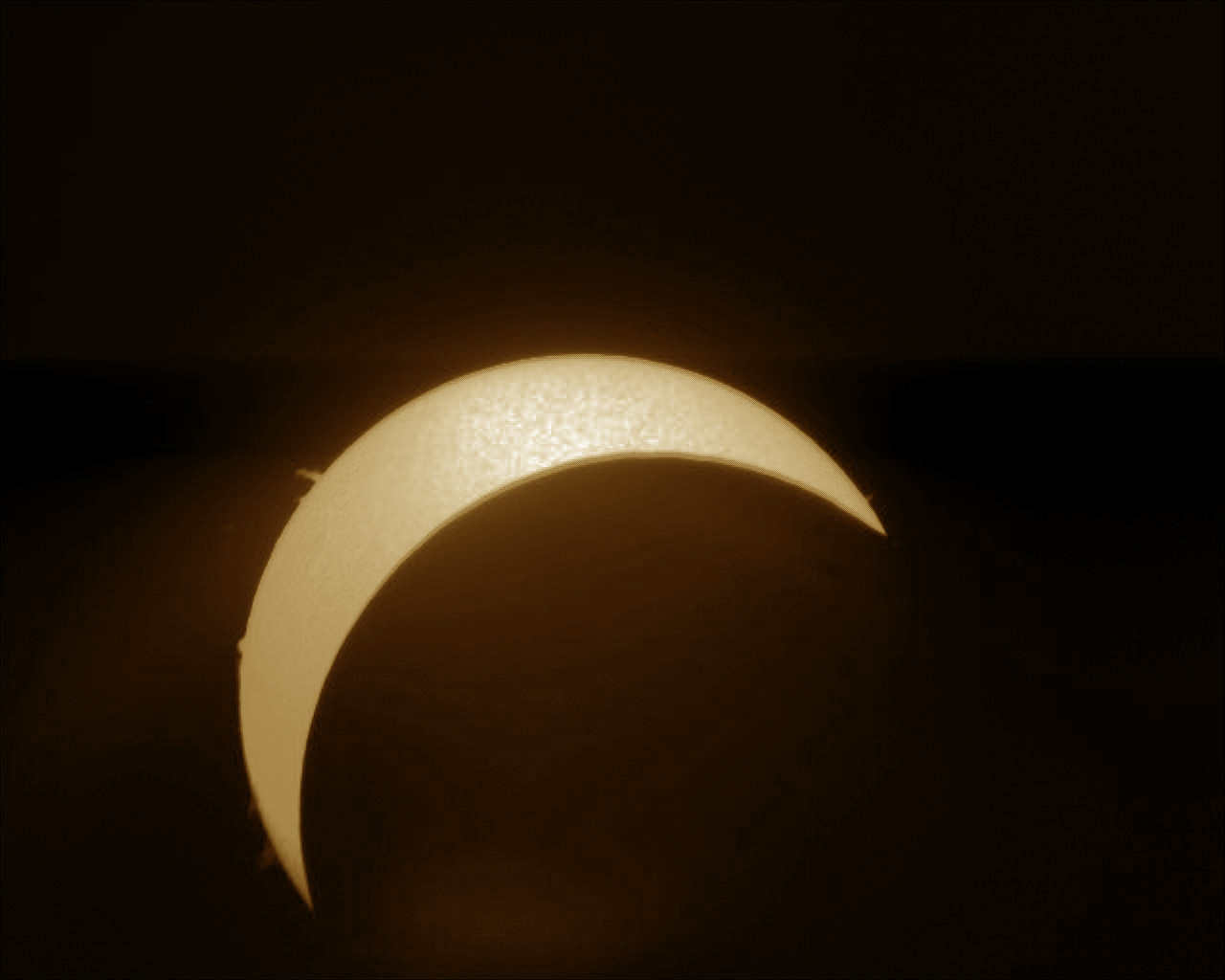 Partial eclipse from the Leighton Observatory