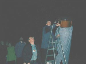 Eyes in the sky - Is that a star I see? Croxteth Park Star Party, Saturday/Sunday, February 16th/17th 2002