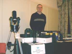 Stockport Binocular & Telescope Centre (SBTC) stand at Croxteth Park Star Party, Saturday/Sunday, February 16th/17th 2002