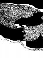 Lunar Drawing by John Knott: Gassendi 1994 Feb 21st, 18:45 - 19:25 UT. 216mm Newtonian X216
