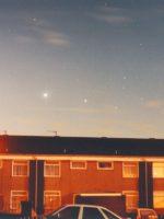 Venus and Jupiter in pre-dawn sky at 06:30 U.T. January 26th 1995, by Gerard Gilligan