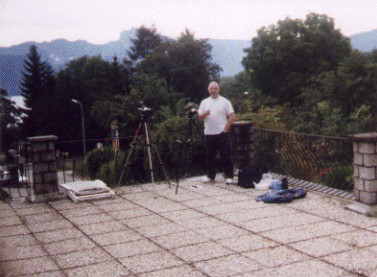 John Knott in Altmuster, Salzkammergut Region, Austria for the Total Solar Eclipse of August 11th 1999