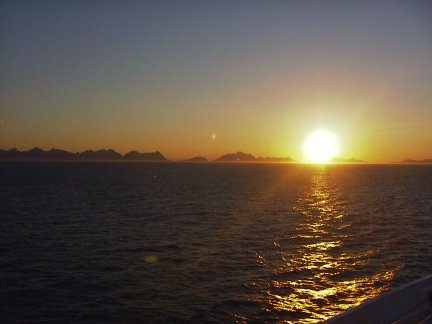 The Midnight Sun, taken by Tony Williams in Norway