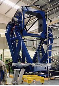 The Indian 2 meter telescope at Telescope Technologies Ltd. nears completion, Friday 15th September, 2000
