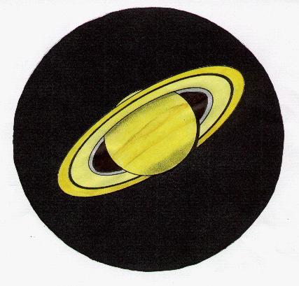 Saturn, drawn by John Knott in September 1991