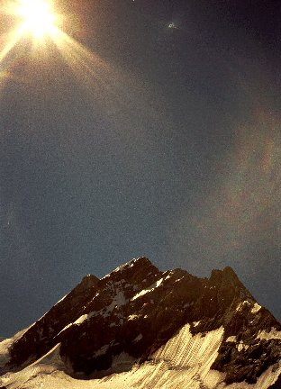Iridescence. Taken by Tony Williams from the top of Mont Jungfrau, Switzerland (date unknown, probably during August 1998)