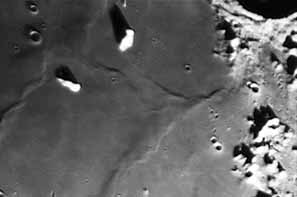 A portion of Mare Imbrium on the Lunar surface, date and photographer unknown