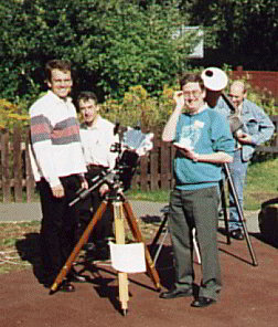 Solar observing at Pex Hill during the visit by the North East Astronomical Societies on 22nd August 1998
