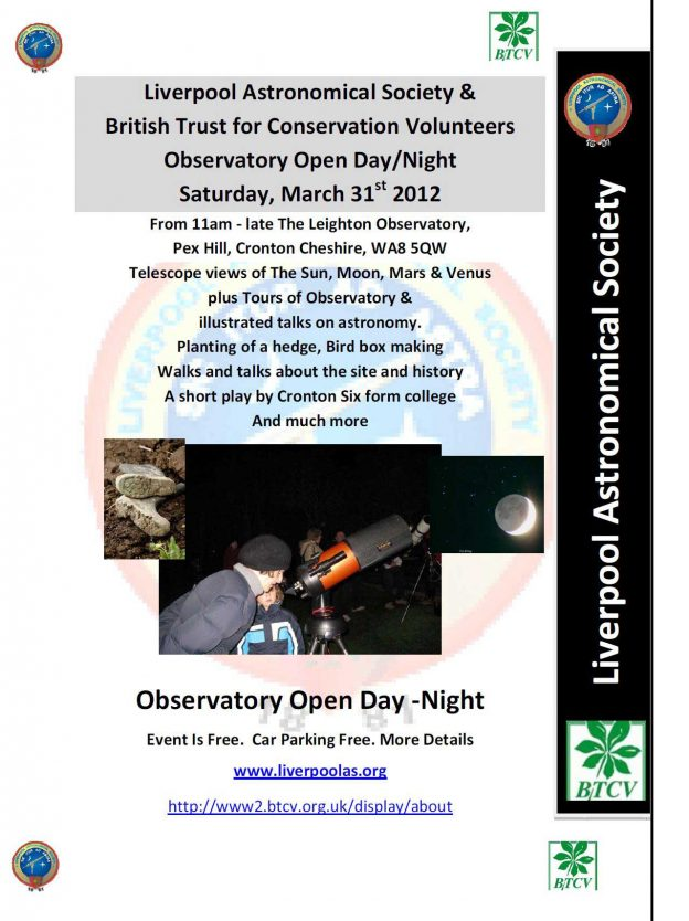 Poster: Leighton Observatory Open Day 2012