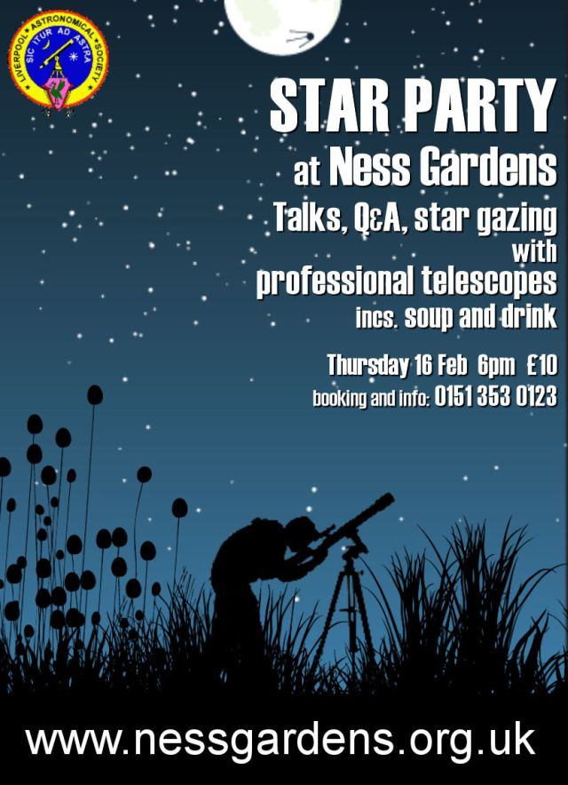 Poster: Star Party at Ness Gardens, Feb 2012