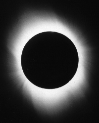 A Total Solar Eclipse, showing the Corona (date and location of eclipse unknown)