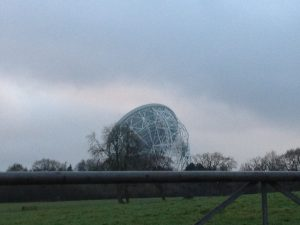 The Lovell Telescope (facing away from the camera) at Jodrell Bank, Arriving at Stargazing Live 2013, Wednesday 9th January 2013