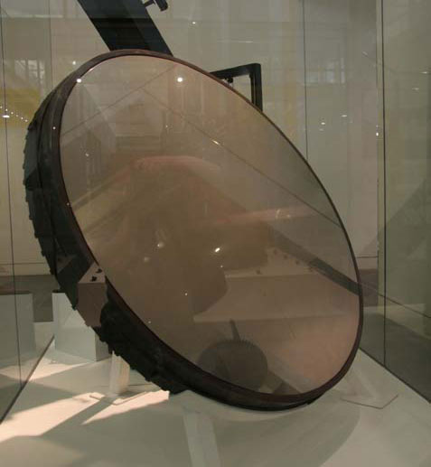 "William Herschel's 36"" Speculum mirror at the Science Museum, London, in 2008"