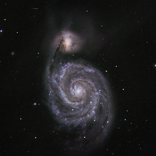 M51, imaged by Mr. Rob Johnson