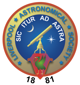 Liverpool Astronomical Society (LAS) Logo Circa 2014 - Present day