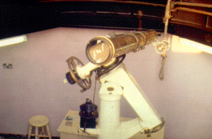 The 5″ Cooke refractor at the City Observatory, Liverpool Museum, William Brown Street, circa 1998