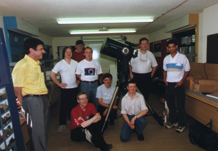 "Some LAS members in the meeting room at the Leighton Observatory for the installation of the 12"" Meade LX200 EMC Telescope on 5th September, 1999"