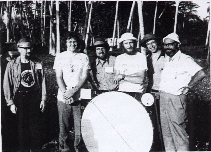 LAS members seen during the Zanzibar Eclipse in 1976