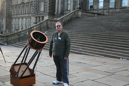Geoff Regan at William Brown Street Sidewalk Astronomy event, 19th May 2007