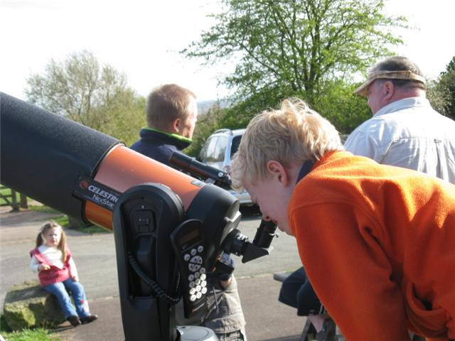 Open Day at Leighton Observatory on International Year of Astronomy Day, 4th April 2009