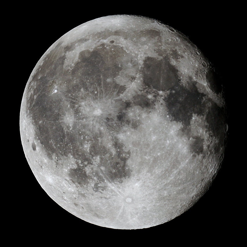 The Moon, just over a day after full moon at prime focus. Taken by Colin Murray on or before 13th December 2011