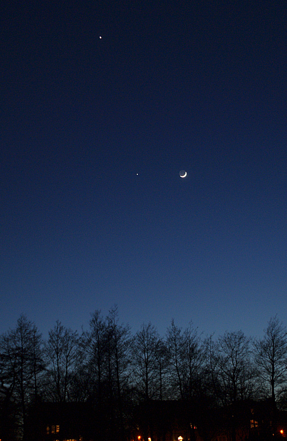 The Moon, Jupiter and Venus taken by Colin Murray on 25th March 2012