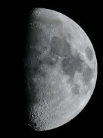 The Moon, taken through an 8 inch reflector at prime focus by Colin Murray on 31st March 2012