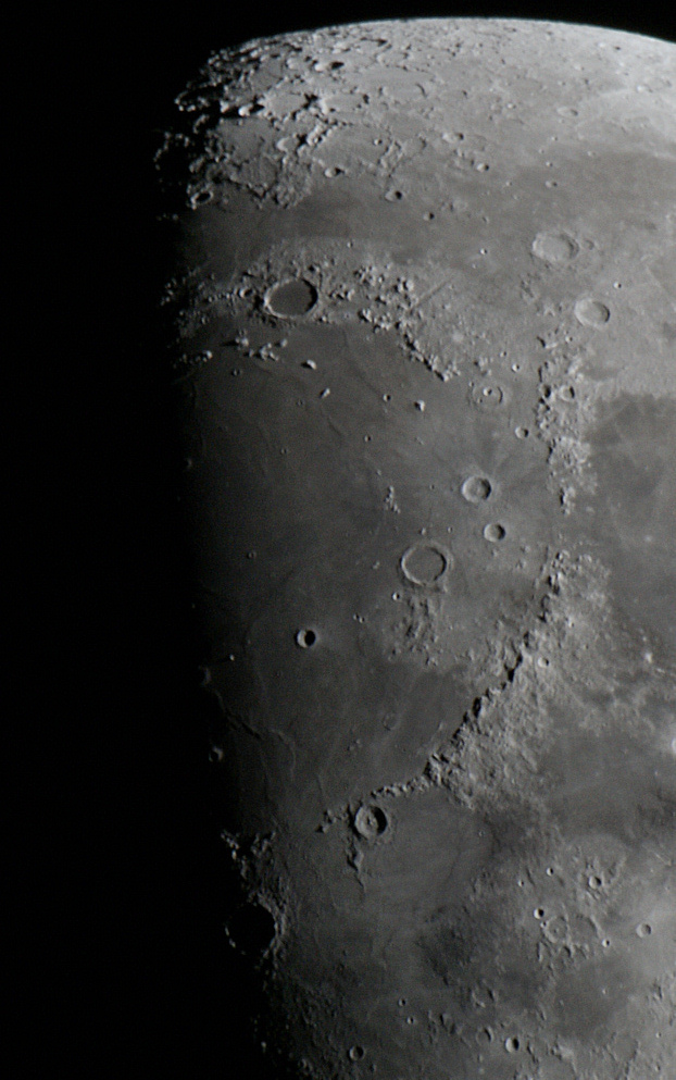 The Moon, taken at Prime focus with a 2x barlow by Colin Murray on 31st March 2012