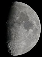 The Moon, taken at prime focus through a 8 inch reflector by Colin Murray on 1st February 2012