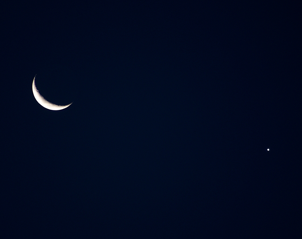 The Moon and Venus, taken by Colin Murray on 26th March 2012
