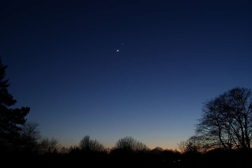 The Moon, Venus and Jupiter taken by Colin Murray on 26th March 2012