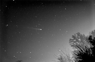 Comet C/2002 C1 (Ikeya-Zhang), taken by Richard Sargent in Chester using an SX Mono Starlight Express CCD, exposure 2mins, 35mm lens at 19:26 UTC on March 11th 2002