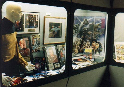 Star Trek and Star Wars display at Prescot Museum's 'Final Frontier' exhibit, July 11th - September 3rd, 2000