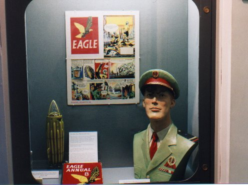 Dan Dare models on show at Prescot Museum's 'Final Frontier' exhibit, July 11th - September 3rd, 2000
