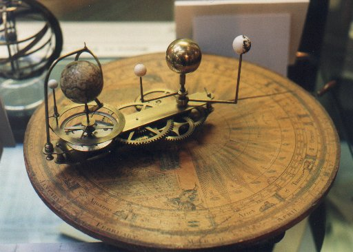 A Liverpool made Orrery on show at Prescot Museum's 'Final Frontier' exhibit, July 11th - September 3rd, 2000