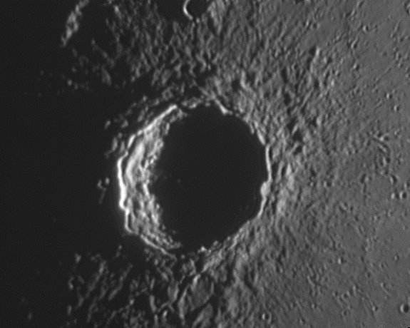 Copernicus crater, imaged by Rob Johnson, date on or before 10th April 2009
