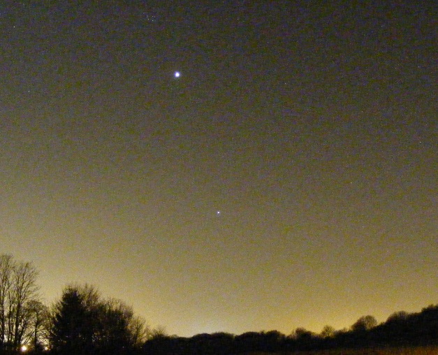Pleiades (M45), Venus and Jupiter taken on 28th March 2012 by Phil Willams