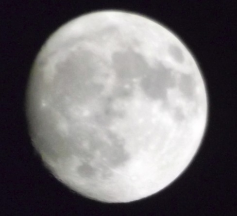 Waxing Gibbous Moon, taken on 5th April 2012 at 00:00 (unknown if BST or UTC) by Phil Willams, using a Fujifilm Finepix s3400
