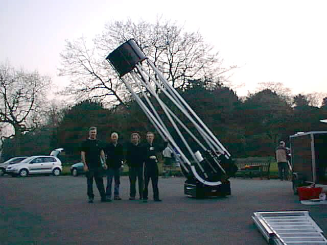 Telescope in the grounds of Croxteth Park, taken by Dave Thomson, during or before December 2006. No other information known.