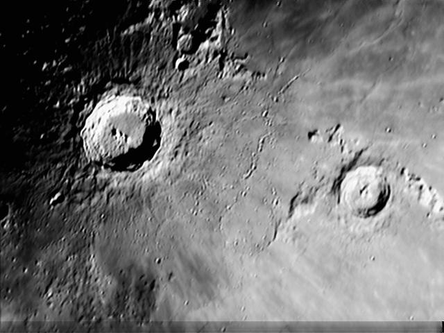 Image of the Moon from stacked frames, by Charlie Jordan, imaged on or before 9th April 2009