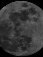 "Full Moon composite image, by Charlie Jordan, imaged on 23rd November 2012. 10 frames mosaiced together using Microsoft ICE. 8"" Reflector and a Samsung CCTV Camera."