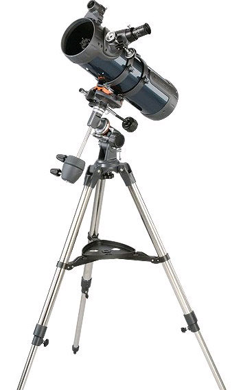 A typical Celestron Newtonian system from David Hinds with a typical tripod