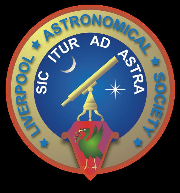 Liverpool Astronomical Society (LAS) Logo Circa 2014 - Present day